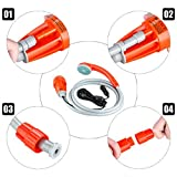 Suaoki-Outdoor-Powered-Handheld-Portable-Camping-Shower-Plug-into-12v-Cigarette-Adapter-and-Turns-Water-from-Bucket-into-Steady-Gentle-Stream-with-Water-Pump-and-Build-in-Water-Filtration-System