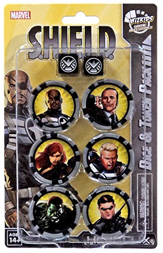 Marvel Heroclix Nick Fury Agent Shield Dice & Token Pack by WizKids