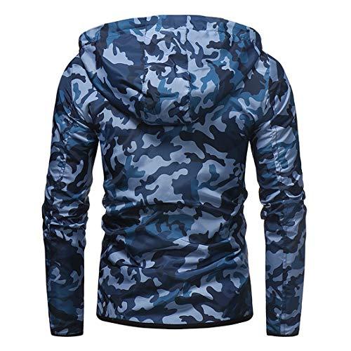 Veste à Capuche Homme Manches Longues Full Zip Manteau Nouveau Camo Imprimer Poches Hoodie Homme Hoodie Classic Fashion… 3