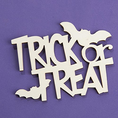 Factory Direct Craft Group of 6 Laser Cut Halloween Themed Script