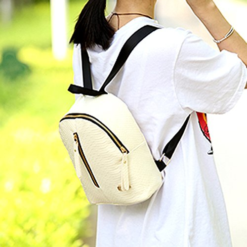 School Beige Rucksack Leather Bag Fashion Casual Domybest Shoulder PU Backpack Women Travel SH6O0wq