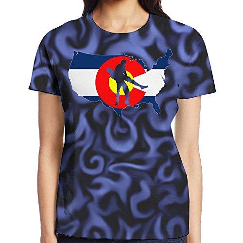 Colorado Wrestling Women's Comfortable Short Sleeve T-Shirt by QW8 Shirt