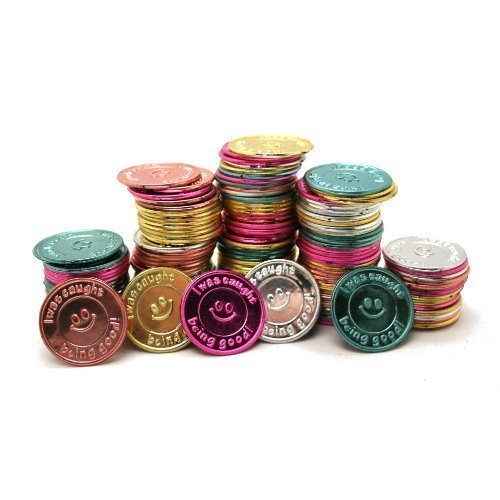 Oriental Trading Company I Was Caught Being Good! Plastic Coins- Bulk (5-Pack of 144) by Fun Express