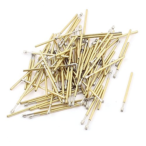 (uxcell 100Pcs P50H 1mm Dia Crown Tip Spring Test Probes Contact Pins 16.5mm)