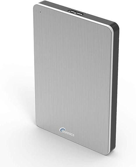 Sonnics 500GB Plata Disco duro externo portátil de Velocidad de transferencia ultrarrápida USB 3.0 para PC Windows, Apple Mac, Smart TV, XBOX ONE y PS4: Amazon.es: Informática