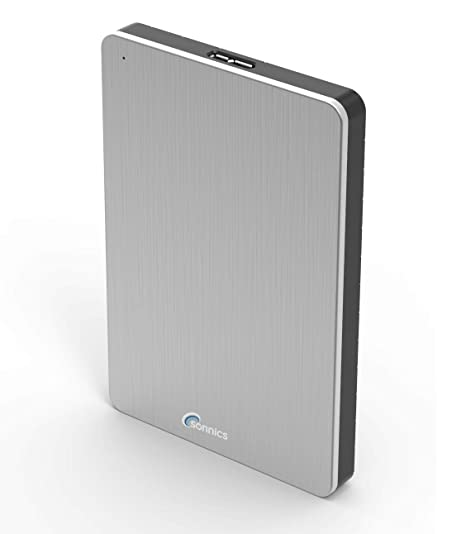 Sonnics 500GB Plata Disco duro externo portátil de Velocidad de transferencia ultrarrápida USB 3.0 para PC