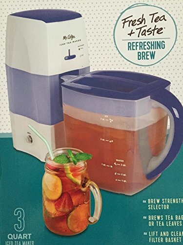 Best Price Mr. Coffee Iced Tea Maker 3 Quart with Brew Strength Selector