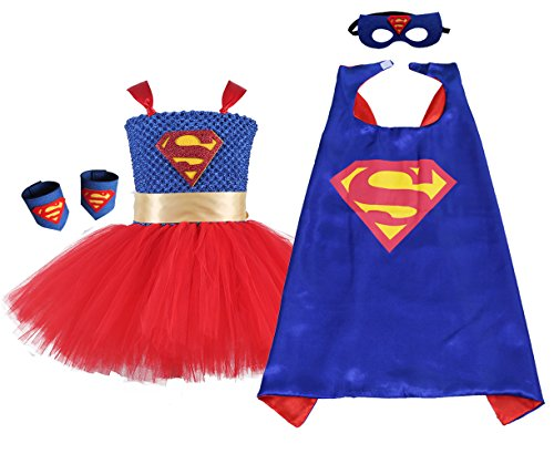 AQTOPS Supergirl Costume Girls Red -