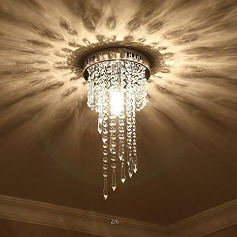 Glighone Lámpara Colgante Cristal LED 40W Lámpara de Araña ...