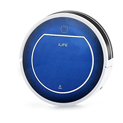 ILIFE V7 Smart Robot Vacuum Cleaner, Buletooth Control,Sensor,Household Cleaning with Efficency Improved