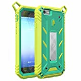 iPhone 6S Plus Case, POETIC Revolution [Premium Rugged] Protective Case with [Landscape Stand Feature] [Shock Absorption & Dust Resistant] for Apple iPhone 6 Plus/iPhone 6S Plus Teal/Citron