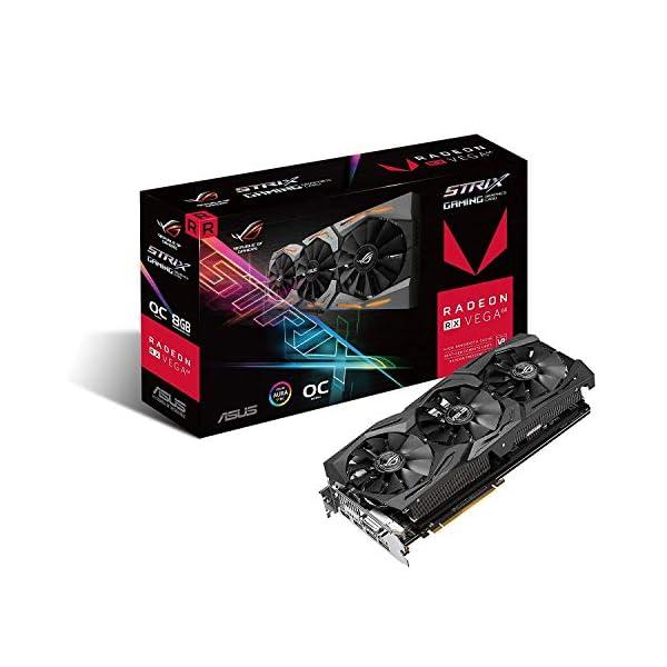 ASUS Radeon RX Vega 64 8GB Overclocked 2048-Bit HBM2 PCI Express 3.0 HDCP Ready Video Card (STRIX-RXVEGA64-O8G-GAMING)