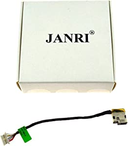 JANRI Replacement 799736-S57 799736-F57 799736-Y57 DC Power Jack Port Socket Harness Connector Power Charging Plug DC-in Cable for hp 15-AC163NR 15-AC 15-AC063NR 15-AC113CL 15-AC121DX 15-AC161NR