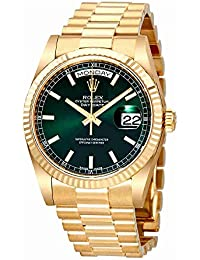 Day Date Champagne Dial Automatic 18K Yellow Gold Automatic Watch 118238GNSP