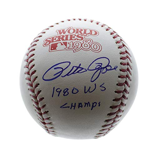 Pete Rose Cincinnati Reds Autographed Signed 1980 World Series Rawlings Baseball