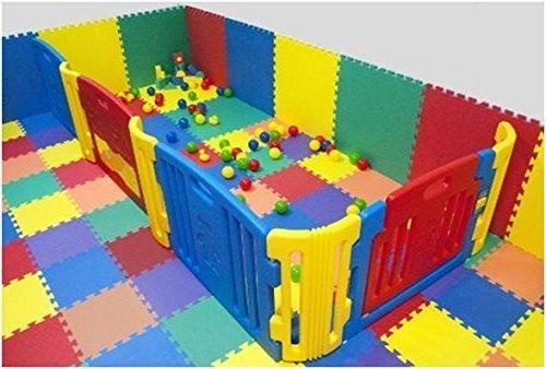 Esercizi Cannons UK Tappetini Componibili per Proteggere il Pavimento per Utilizzo Interno//Esterno 16 pezzi Yoga 64sqft Area Giochi per Bambini
