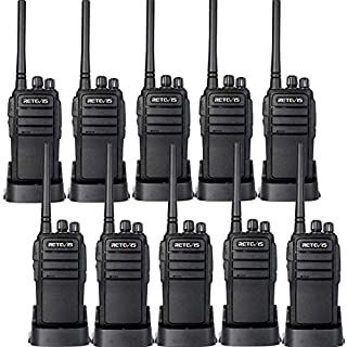 Sale Off Retevis RT21 Generation 2 Two Way Radios 16CH 3000mAh UHF 2 Way Radios VOX Walkie Talkies(10 Pack)