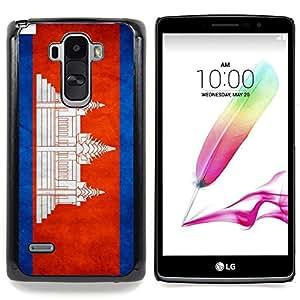 "Qstar Arte & diseño plástico duro Fundas Cover Cubre Hard Case Cover para LG G4 Stylus H631 MS631 H635 H540 H630D H542 (Bandera nacional de la Serie-Camboya"")"