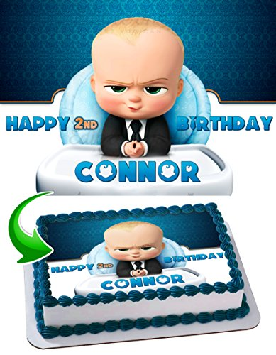 Baby Boss Edible Image Cake Topper Personalized Icing Sugar Paper A4 Sheet Edible Frosting Photo Cake 1/4 ~ Best Quality Edible Image for cake