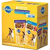 PEDIGREE LITTLE CHAMPIONS Meaty Ground Beef Variety Pack Wet Dog Food, 5.3 ounce pouches, Case of 4
