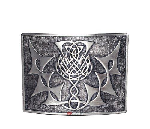 Highland Thistle Kilt Belt Buckle Antique I Luv LTD