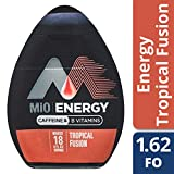 MiO Energy Tropical Fusion Liquid Water Enhancer, Caffeinated, 1.62 fl oz Bottle , Pack of 12
