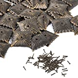 100 pcs Vintage Bronze Square Stud Nail Tack + Nails for Upholstery Furniture Home DIY Decoration