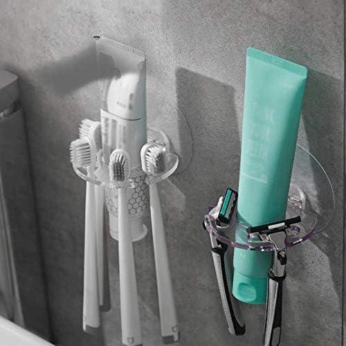 吸引カップシームレス壁掛け歯ブラシホルダー歯磨き粉収納ラックディスペンサー浴室付属品