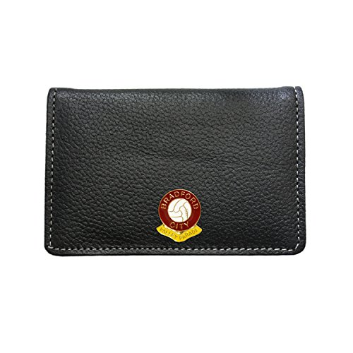 Bradford city football club leather card holder wallet