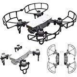 Drone Fans Spark 1 set Propellers Blades Guards Protector + 1 set Landing Gear Stabilizers Legs Extender Kit Propeller Bumpers Combo and Finger Guards for DJI SPARK Drone Black