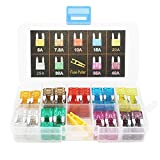 EEFUN CAR Fuse Set 120 PCS Assorted Small Blade Fuse Used for Auto, Car, Truck, SUV, Home (5/7.5/10/15/20/25/30/35/40 AMP Replacement Fuse)