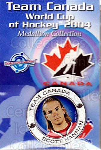 2004 World Cup Hockey - (CI) Scott Hannan Hockey Card 2004 Team Canada World Cup Medallion 9 Scott Hannan