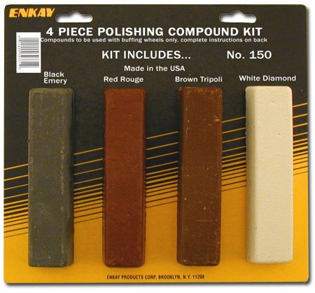 Jewelers Rouge Polishing Compound (Enkay 150 Carded Polishing Compound Kit, 4-Piece)
