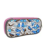Black-And-White Pattern Large Capacity Multi-Layer Pencil Case Back To School Choice Pink
