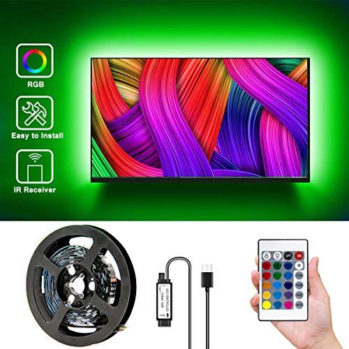 DAYBETTER Led Strip Lights for TV 42-60inch, 6.56ft TV Led Backlight Kit with Remote, USB Led Light Strips Color Changing 5050 RGB LEDs for HDTV Bias Light, Computer Behind