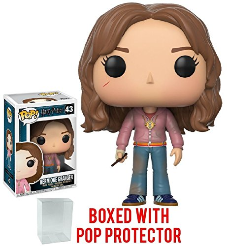 Harry Potter Hermione Granger with Time Turner Pop! Vinyl Figure and (Bundled with Pop BOX PROTECTOR CASE)