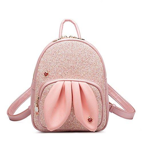 Des épaules Sac Paquet Sac pink Femmes Fleur à Personnalité YXLONG Mode D'étudiant 2018 Nouvelles Paillettes Gratuit Bandoulière qgSHgEYx