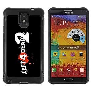 Planetar® ( Left Dead ) Samsung Galaxy Note 3 III / N9000 / N9005 Hybrid Heavy Duty Shockproof TPU Fundas Cover Cubre Case