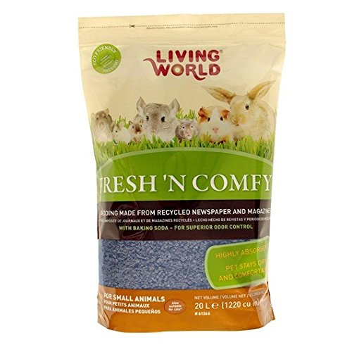 Living World Fresh'n Comfy Bedding 20-Liter, Blue (Hamster Living World)