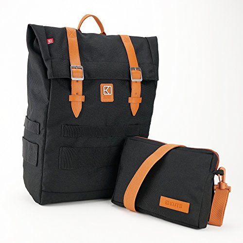 KUTS - Bolso mochila  para mujer negro