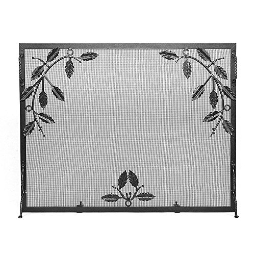 - Minuteman International G-3830 Weston Fire Screen with Leaf Motif