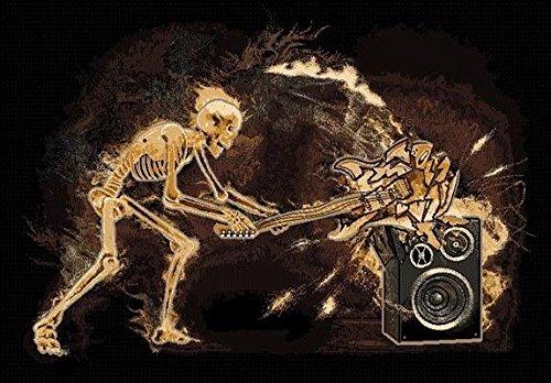 6' X 8' Skeleton Breaking Guitar Density Area Rug Music Room Modern by Persian Rugs