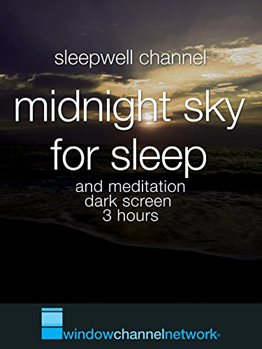 Midnight Sky for sleep and meditation dark screen 3 hours