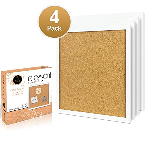 4 Pack Cork Bulletin Board 12