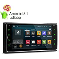 XTRONS Android 5.1 Lollipop Quad Core 6.95 Capacitive Touch Screen Car Stereo Radio 2 Din 1080P Video OBD2 Screen Mirroring Function for Toyota