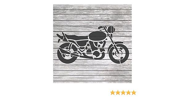 Art Stencil Reusable Motorcycle Stencil Painting Stencil Motorcycle With Sidecar Stencil DIY Craft Stencil Motorcycle
