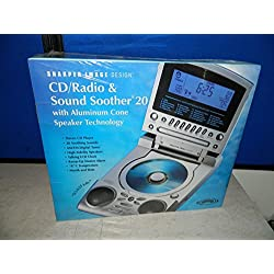 Sharper Image CD/Radio & Sound Soother With Aluminum Cone Speaker Technology SI785SIL - CD clock radio