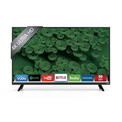 "VIZIO D40U-D1 D-Series 40"" Class 4K Ultra HD 120Hz Full Array LED Smart TV (Black) (Certified Refurbished)"