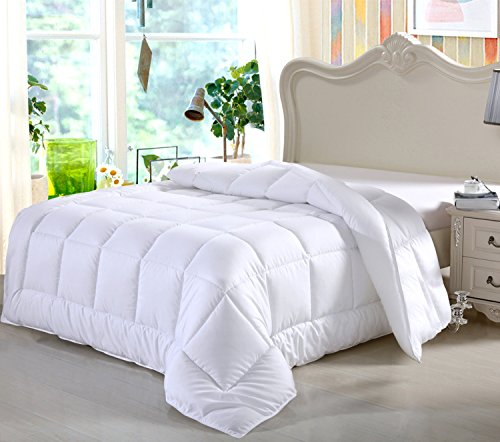 Swiss Comforts Soft Luxurious Contemporary Style Bedding Goose Down Alternative Microfiber Shell Bedroom Duvet, Queen Size, (Hanna Bedroom Collection)