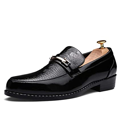 Pour Slip Hommes Mariage Apragaz Chaussures De Mocassins Cuir En On vNw8n0Om
